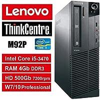 PC Lenovo ThinkCentre M92P SFF - Core i5, RAM 4Gb, HDD 500Gb 7200rpm, DVDRW, Windows 7 Pro + Windows 10 Pro UpGrade (Ricondizionato Certificato)