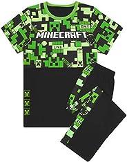 Minecraft Pijamas de para Niños, Largos o Cortos, Opciones Inferiores Pijamas