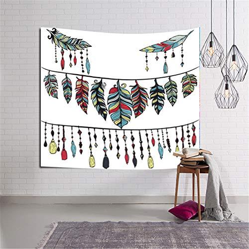 Yubaoer Wandbehang Wandtuch, für Pavillon Strandhaus, Wandteppich mit detailliertem Wandteppich, Wandteppich, Wandteppich, für Wohnzimmer, Schlafzimmer, Colorful Floral Plants Tapestry A6 229x153cm