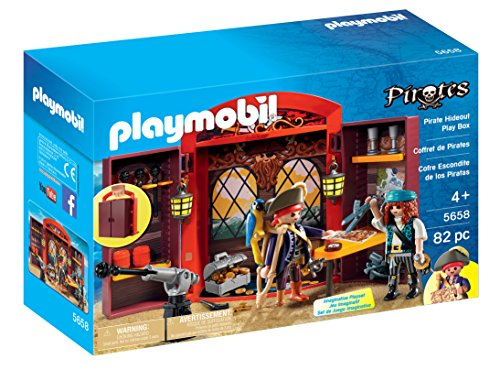 PLAYMOBIL Playmobil-5658 Pirate Hideout Play Box, Multicolor (5658)