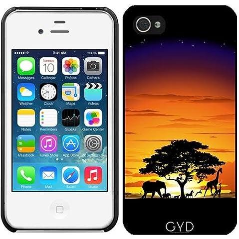 Hülle für Iphone 4/4S - Wilde Afrika Savanne Sonnenuntergang by