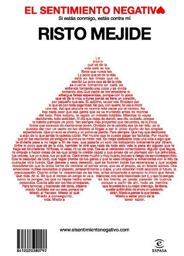 El sentimiento negativo por Risto Mejide