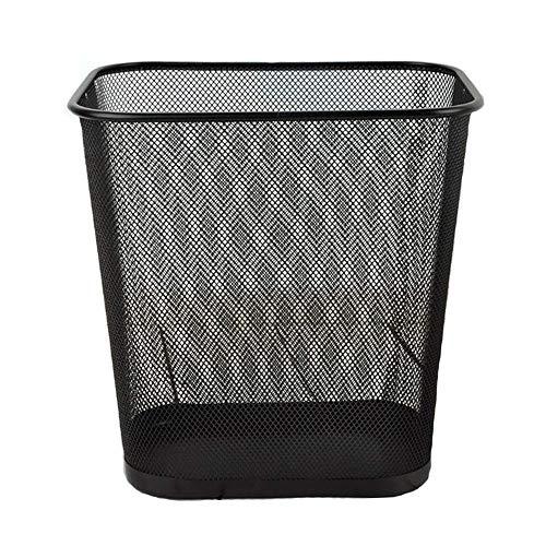 LIZONGFQ 12L Große Kapazität Mülleimer Rechteckige Metall Eisen Mesh Papierkorb Mesh Design Durable Barrel Vorratsbehälter Geeignet Für Office Hotel Home (Papierkorb Liner)