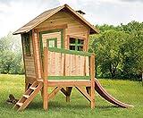 Beauty.Scouts Holzspielhaus Vetle mit Veranda Leiter Rutsche 177x264x203cm Zedernholz in braun...