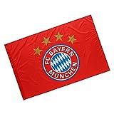 München FC Bayern Fahne Logo Rot, Schwenkfahne, Flagge FCB - Plus Lesezeichen I Love
