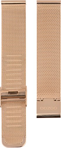 Oozoo Milanaiseband Uhrenband Armband Metallband Edelstahl Rosefarben 22 mm - OA-502-22
