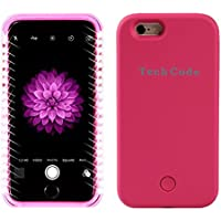 Copertura per Apple iphlone6/6S Plus 5.5illuminato a LED caso/Schutzhülle, elecfan Custodia per con luci LED custodia/case, Smart Illuminated 2016nuovi progetto Hot Pink