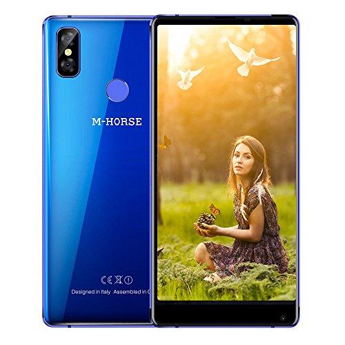 M-HORSE Pure 2 Smartphone 4G Android 7.0 Ohne Vertrag IPS 5.99 Zoll, MTK6750, 1.5GHz Octa Core CPU, 4GB RAM + 64GB ROM, Dual-SIM-Karten Dual-Standby, 1 Micro-SIM-Karte + 1 Nano-SIM-Karte, Dual Rear Kameras Front 8MP + Hinten 13MP + 2MP mit Blitzlicht, 3800mAh Akku