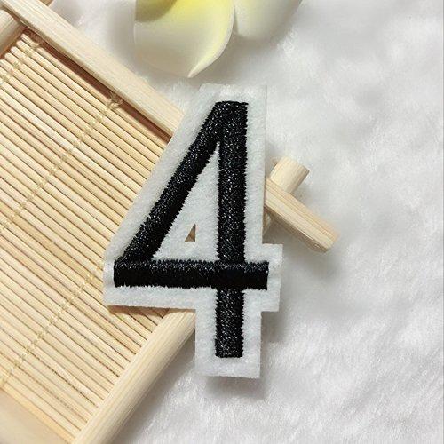 Parche Digital DIY Número 0 - 9 pegatina bordada