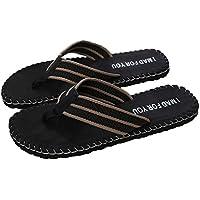 Chanclas Hombre, Manadlian Zapatos de verano para hombres Chancletas Zapatilla masculina Sandalias Interior o al aire libre (CN:44, Negro)