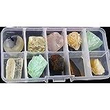 Magic Show Piedra Colección Conjunto - 10 muestras de minerales diferentes (en caja de plástico transparente) CJ441