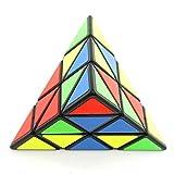 Wings of wind - Eco-friendly plásticos Speed Pyraminx cubo mágico cubo de puzzle triangular (negro)