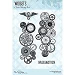 Blue Fern Studios-Clear Stamps: Widgets. These stamps are made of the highest quality photo polymer and will add the perfect touch to any paper crafting project! This package contains four clear stamps on one 5-3/4x4 inch backing sheet. Made in USA.