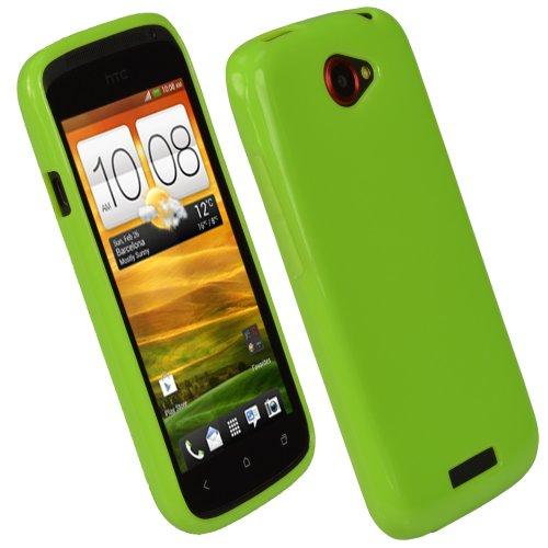 igadgitz U1727 Glänzend Gel TPU Tasche Hülle Schutzhülle für HTC One S - Grün