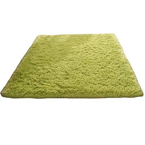 Tappeto anti-arriccia-tappeto di seta, moquette del sofà del tavolo da salotto della camera da letto del salotto, 1.6m * 2.3m congming (colore : green, dimensioni : 1m*2m)