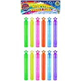 HENBRANDT Neon Bubble Tubes with Star Topper, Pack of 12