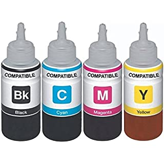 Dubaria Refill Ink for Use in Canon E560 Colour WiFi Multifunction Inkjet Printer  Cyan, Magenta, Yellow and Black  100…