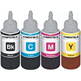 Dubaria Refill Ink For Epson L100 / L110 / L200 / L210 / L220 / L300 / L350 / L355 / L365 / L550 - 100 Ml Each Bottle