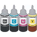 Dubaria Refill Ink For Epson L565 Multi Function Inkjet Printer - 100 Ml Each Bottle