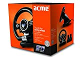 ACME Sti Lenkard inkl. Fußpedale, PC Gaming Zubehör (USB, 12 Tasten, Vibration) - 3