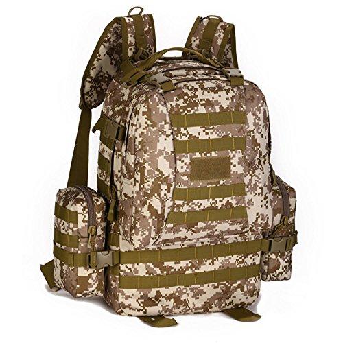 Protector Plus Borsa zaino da zaino tattico dello zaino da 50 litri per la caccia di tiro Camminare Trekking Viaggiare , B C