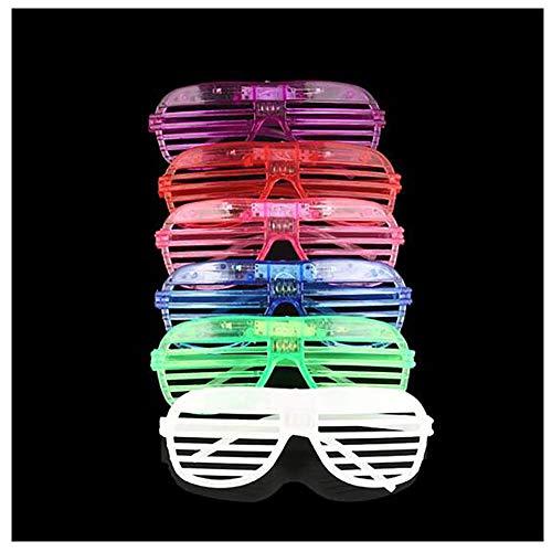 rille, leuchtende Gläser Neon, für Di Bar Party Party Maskerade Halloween Weihnachten Aktivität Artikel Erwachsene Kinder (12er Packung),Purple ()
