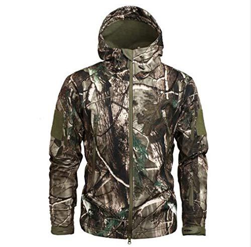 Tarnung Shjzom Herren Army Camouflage Jacke und Mantel Military Tactical Jacket Winter wasserdichte Softshell Windbreaker Hunt Kleidung Tree Camo M (Camo Winter Männer Mantel)