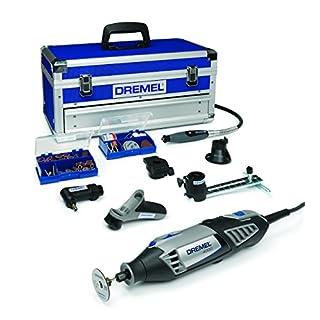 Dremel Multifunktionswerkzeug 4000-6/128 EZ (65tlg Zubehör Set, Biegsame Welle, Kreis- und Parallelschneider, Werkzeugkoffer, 175 Watt)