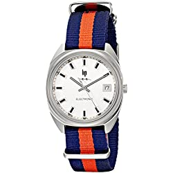 Lip Unisex 1872772 GDG Electronic Stainless Steel Watch with Striped Nylon Band