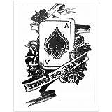 EROSPA® Tattoo-Bogen temporär - Karte Pik Ass