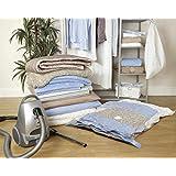 6 Paquetes de almacenamiento para ahorro de espacio bolsas de ropa - 80cm x 60cm - Vacío bolsa de almacenamiento [version:x7.3] by DELIAWINTERFEL