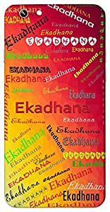 Ekadhana (Popular Girl Name) Name & Sign Printed All over customize & Personalized!! Protective back cover for your Smart Phone : Canvas Selfie Lens Q345