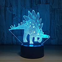 BFMBCHDJ New Stegosaurus 7 Color Lamp 3D Visual Led Night Lights for Kids Touch USB Table Lampara Lampe Baby Sleeping Nightlight