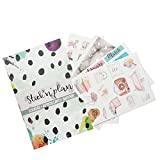 STICKNPLAN Mensile Settimanale Quotidiano Planner Stickers Adesivi Notebook Scrapbooking Happy Colorati Sticker Book per Donne Bambini Studenti con fiori 2017 2018