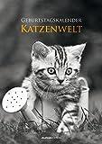 Geburtstagskalender Katzenwelt - Wandkalender A4 - Jahresunabhängig - Alpha Edition