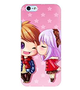 Printvisa Animated Girl And Boy In Love Back Case Cover for Apple iPhone 6 Plus