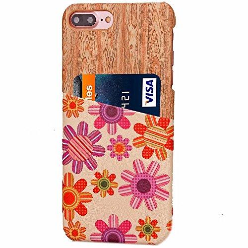 iPhone Case Cover IPhone 7 Plus-Fall-Abdeckung Geschäfts-Art-PC + Ledertasche mit Kartensteckplatz harte rückseitige Abdeckung für Apple IPhone 7 plus 5,5 Zoll ( Color : 1 , Size : IPhone 7 Plus ) 2