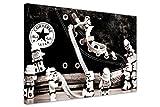 Kunstdruck auf Leinwand, Motiv: Lego Star Wars - Sturmtruppen auf Converse-Schuh, Retro-Stil, Schwarz-Weiß Europäisch 9- A0 - 40