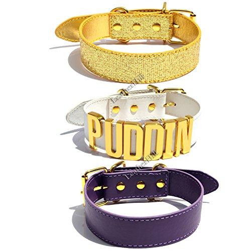 Set di 3cinture girocollo Puddin, colletto collana cintura (Bianco, Oro, Viola & # x25ba; Cyber Deal & # x25C4; White, Gold, and Purple Etichettalia unica