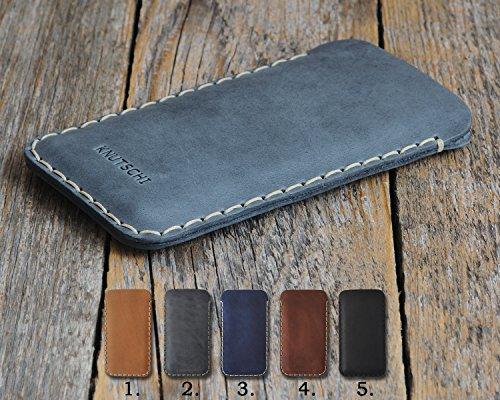 Microsoft Lumia Leder Etui Hülle Tasche Cover Case personalisiert durch Prägung mit ihrem Namen