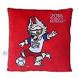 FIFA Weltmeisterschaft 2018 - Plüsch Kissen rot mit Maskottchen Zabivaka