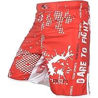 MMA UFC Fight Tigon Pro universalgadgets deportes boxeo pantalones cortos pantalones gimnasio rojo, color , tamaño XXXL
