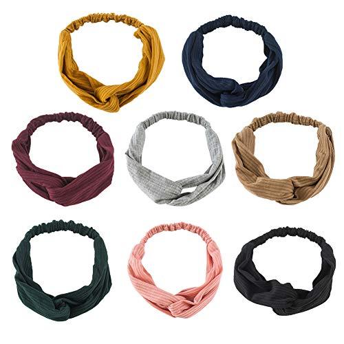 Achimer Damen Stirnband Headwrap Kopfband Haarband Elastisch Weich Verdreht Stirnband Kopfbedeckung...