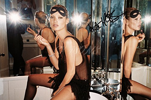 Price comparison product image KATE MOSS SIGNED PHOTO PRINT - SUPERB QUALITY - 12 X 8 INCHES (A4)