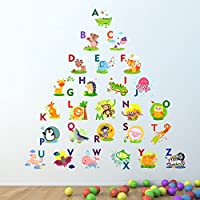 Alphabet Wall Sticker Learn letters kids room decal children art graphics lettering mural
