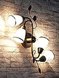 Dekorative Deckenleuchte im Jugendstil / 4x E14 bis 40W 230V / Deckenlampe fürs Schlafzimmer floraler Touch