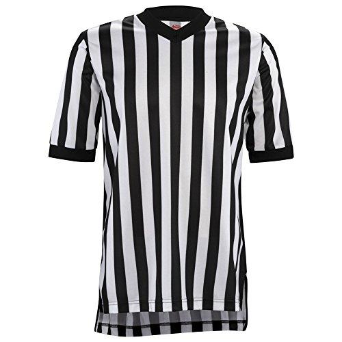 Adams USA Adams Shirt Damen Adams Schiedsrichter Basketball Short Sleeve 2,5cm BK/WH XL Schwarz/Weiß