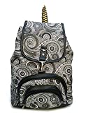 Darash Fashion Women's Stylish Handbag Backpacks Black Print-Bag-173