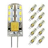 Pocketman 10 Pack 2 Watt AC/DC 12V G4 LED Lichtbirnen,Entspricht 20W Halogen Spurbirne,6000k Kaltweiß