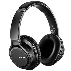 Bluetooth Cuffie Stereo Mpow H7 Wireless Headphones Bluetooth 4.0 CSR Over-Ear Senza Fili Bluetooth Cuffie con Microfono Tempo di Riproduzione di 13 Ore per iPhone 6s plus/6s, iPhone 6/6 Plus, iPhone 7/7 Plus, iPhone, iPad, LG, Samsung, Sony, Huawei ed altri Smartphone e Computer